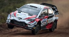 Rally Argentina, Tanak (Toyota Yaris) continua a volare. Due Hyundai alle sue spalle