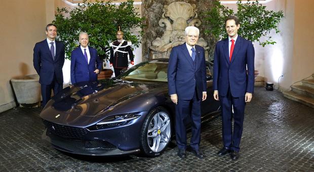 Ferrari Roma, presentato al Presidente Mattarella il nuovo gioiello del Cavallino - Leggo.it