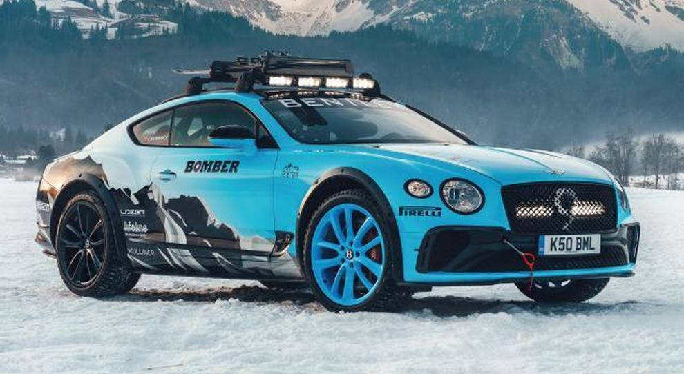 La Bentley Continental GT preparata per il rally