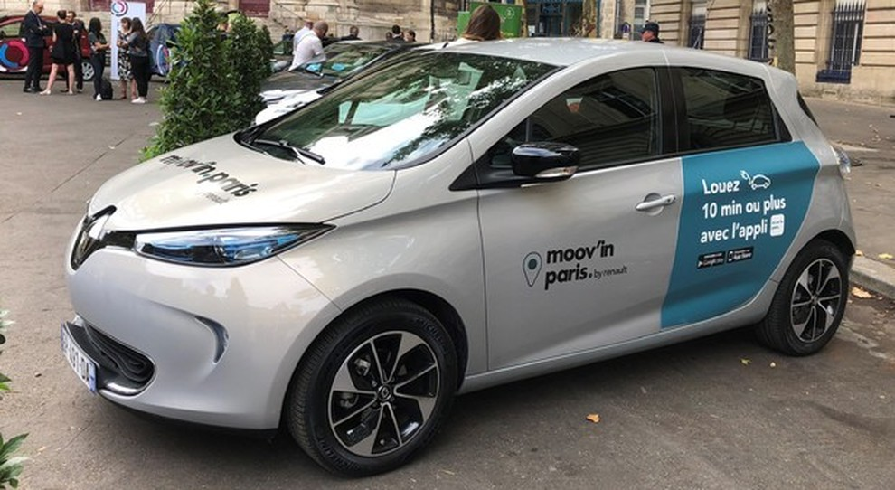 "Una Renault Zoe di ""Moov'in.Paris"""